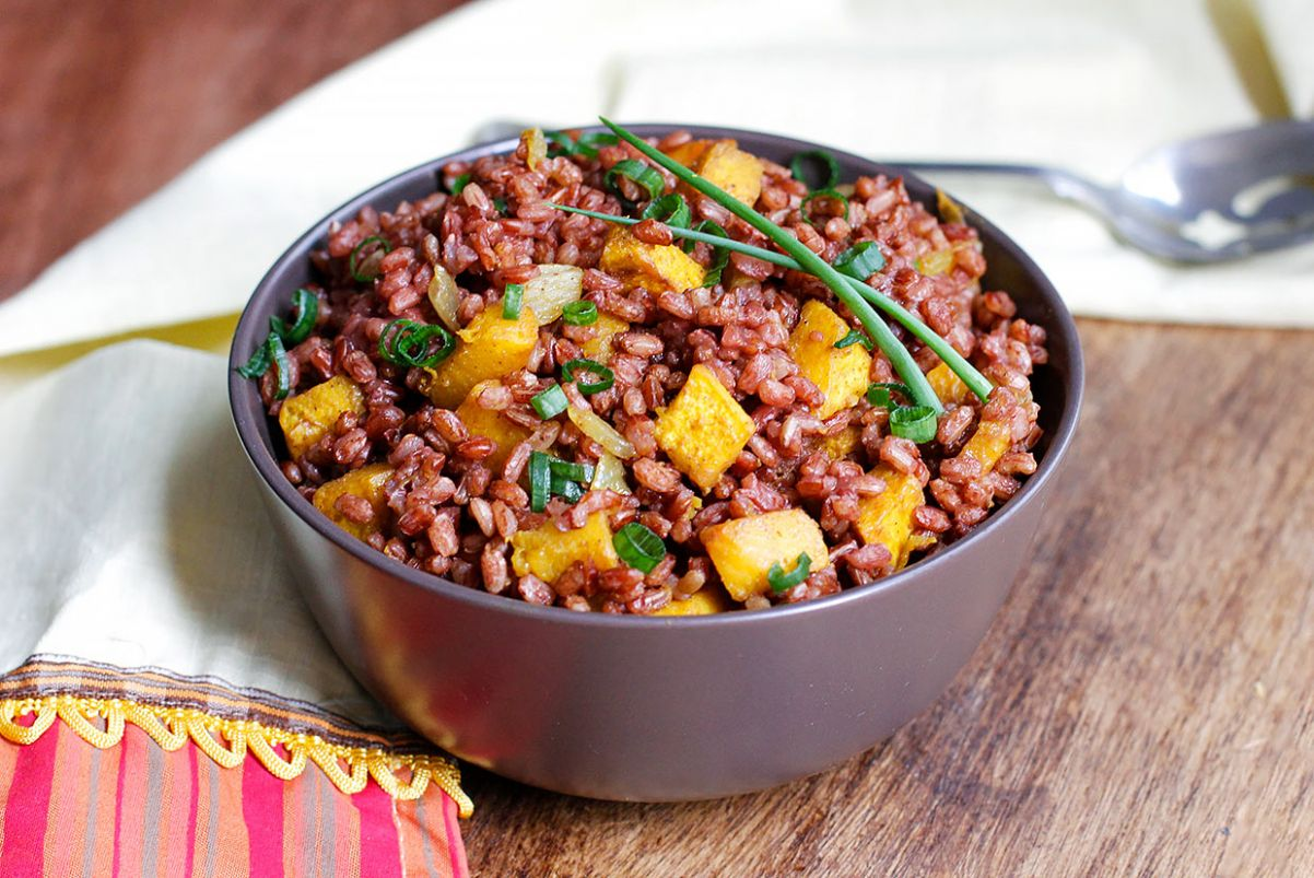 Roasted Pumpkin and Red Rice Salad Recipe - Recipes Red Rice