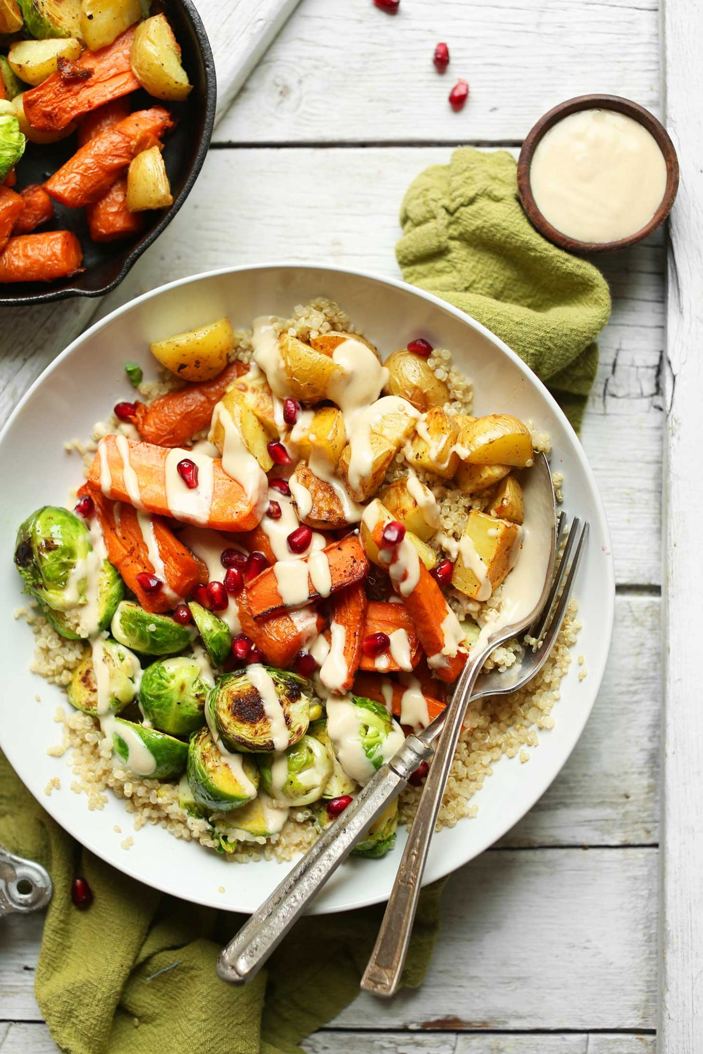 Roasted Vegetable & Quinoa Harvest Bowls - Vegetable Recipes Easy Healthy
