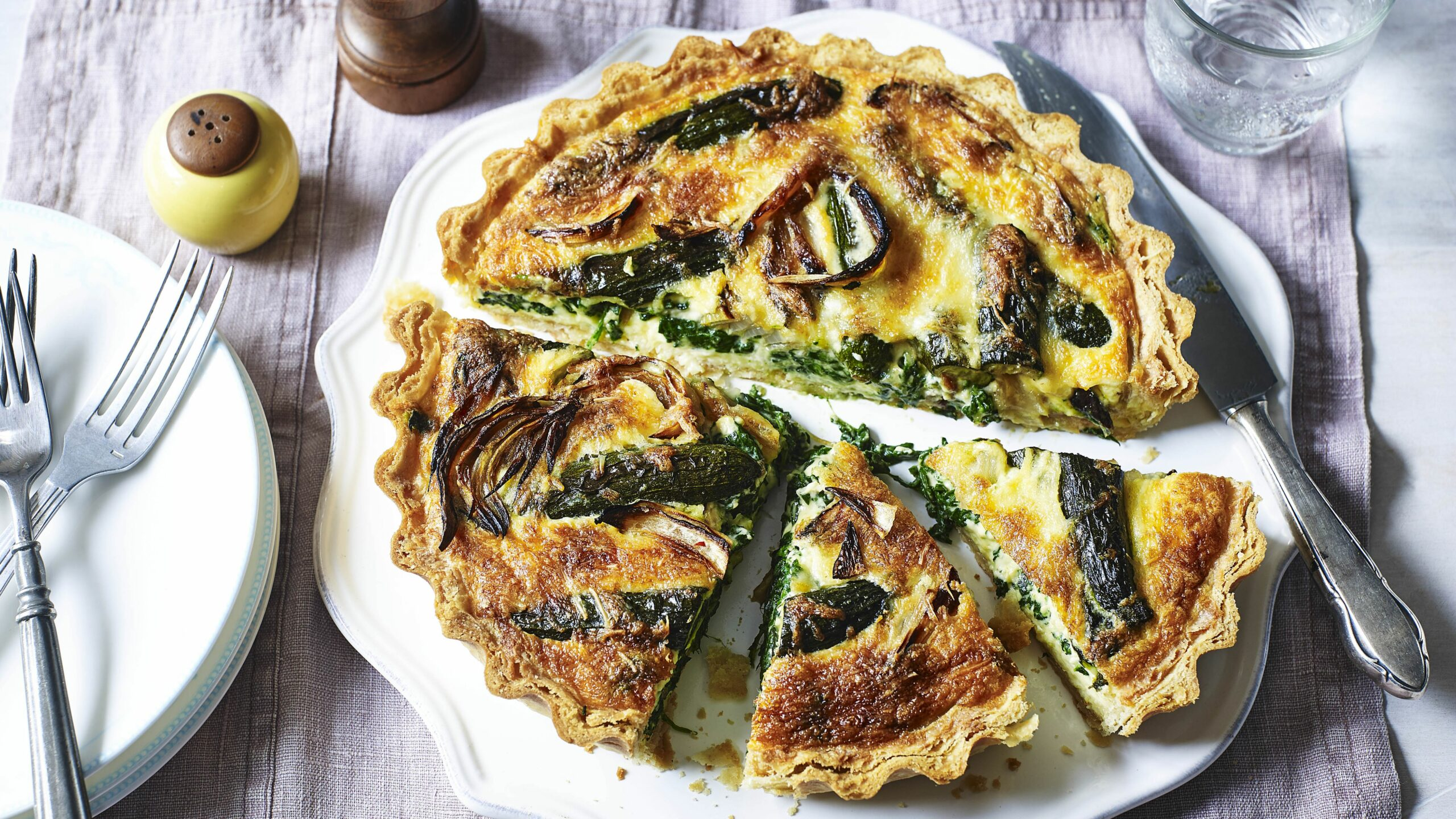 Roasted vegetable quiche - Recipes Vegetarian Uk