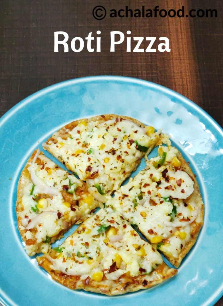 ROTI PIZZA RECIPE - Recipes Pizza In Hindi