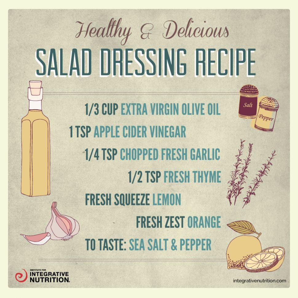 Salad dressing infographic