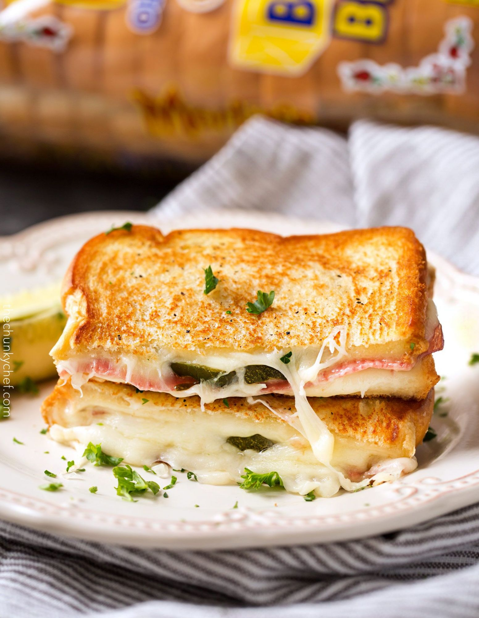 Salami and Pickle Grilled Cheese - Sandwich Recipes Salami