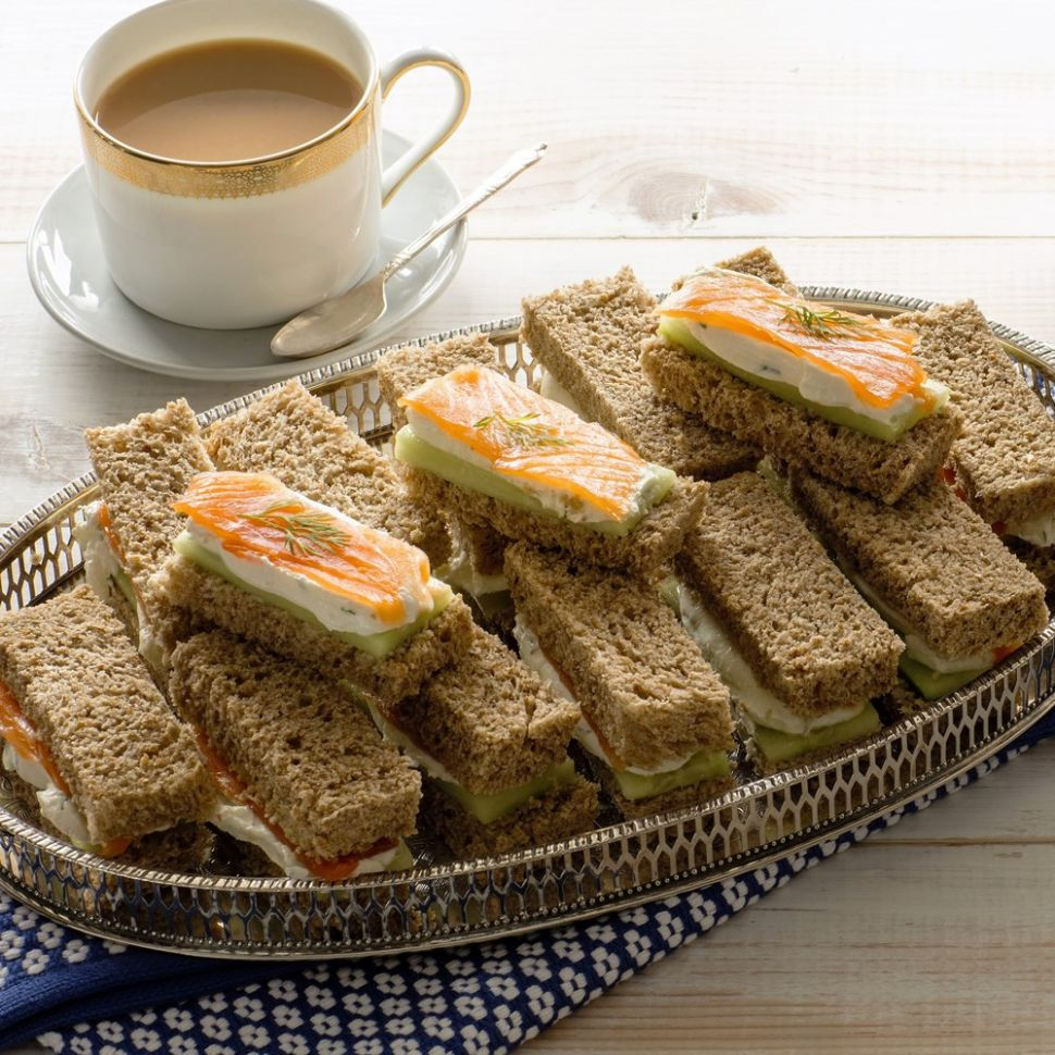 Salmon and Cucumber Afternoon Tea Sandwiches