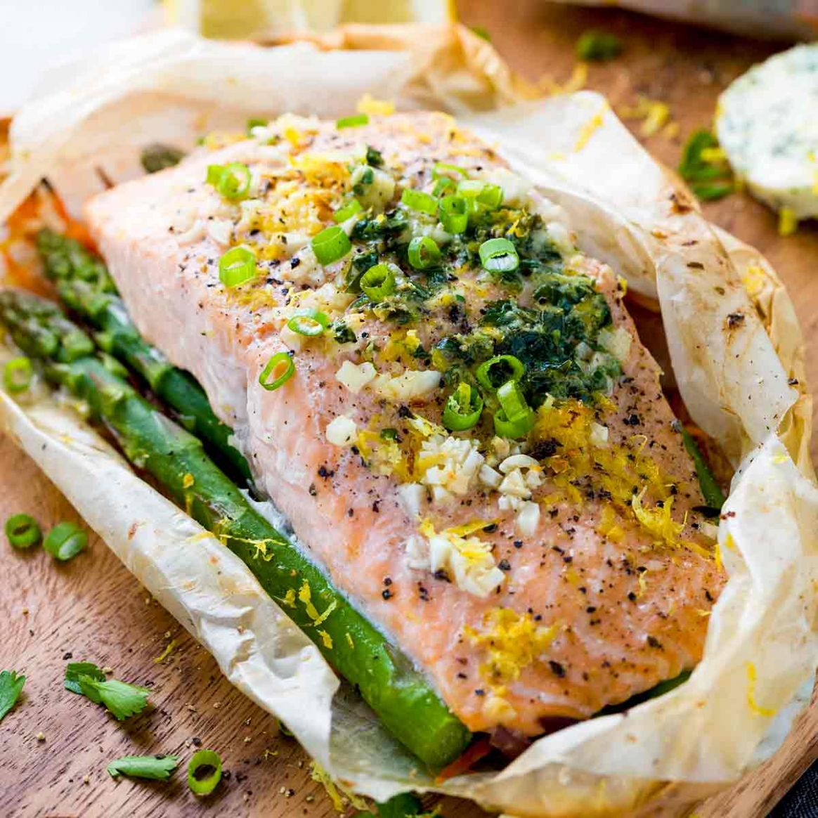 Salmon En Papillote with Vegetables - Recipes Fish En Papillote
