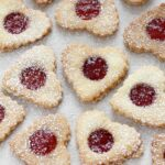 Sandwich Heart Shaped Cookies Filled With Strawberry Jam – Dessert Recipes With Jam