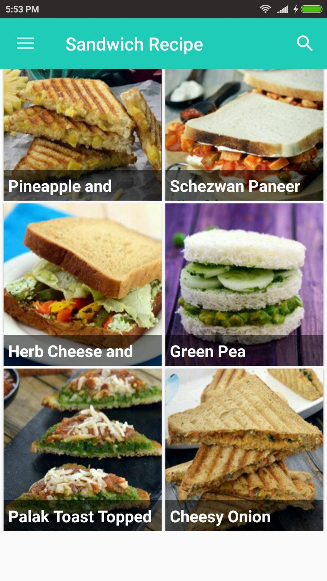 Sandwich Recipes for Android - APK Download - Sandwich Recipes Download