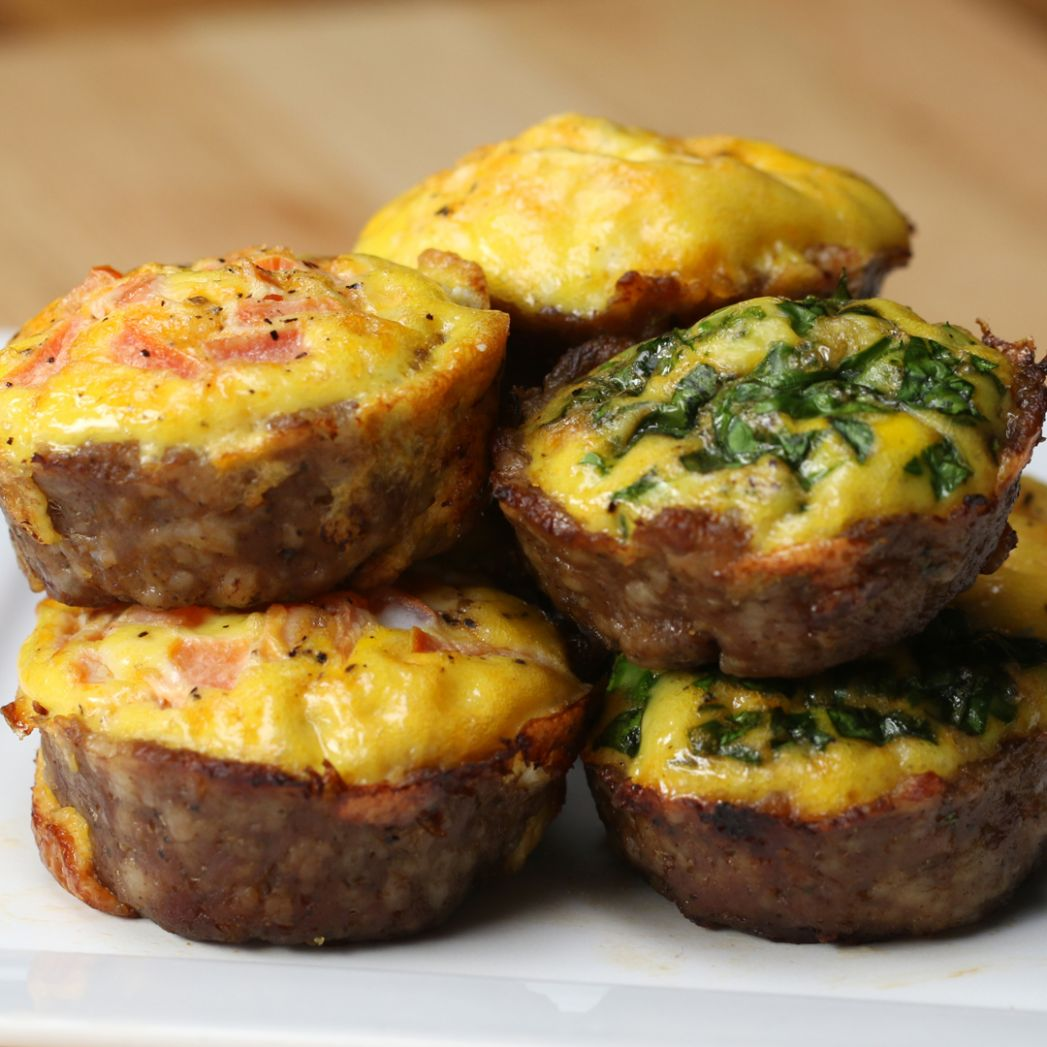Sausage & Egg Breakfast Cups Recipe by Tasty - Breakfast Recipes Sausage