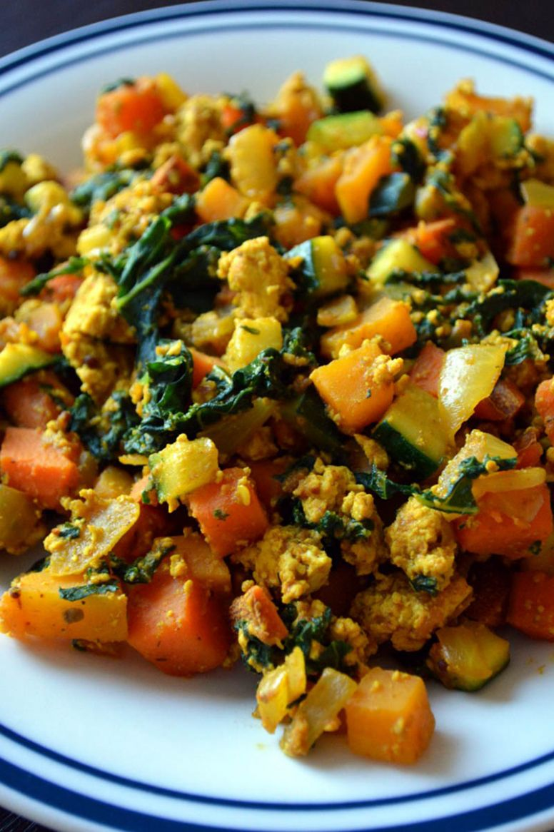 Savoury Tofu Scramble - Recipes Vegetarian No Egg
