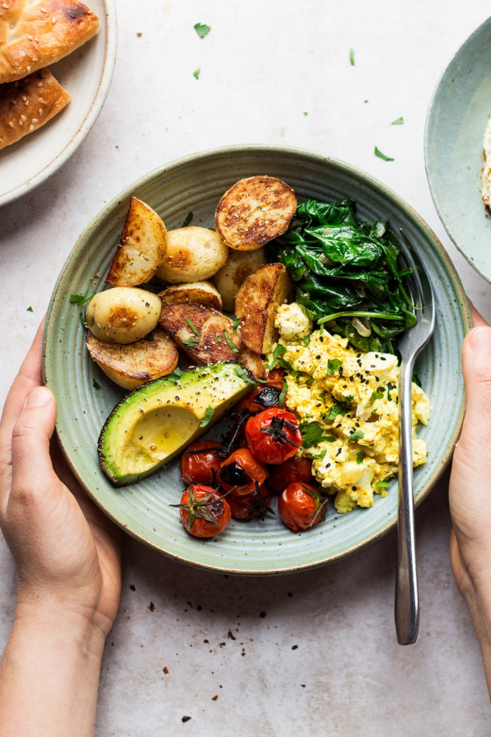 Savoury vegan breakfast bowl - Breakfast Recipes Vegetarian