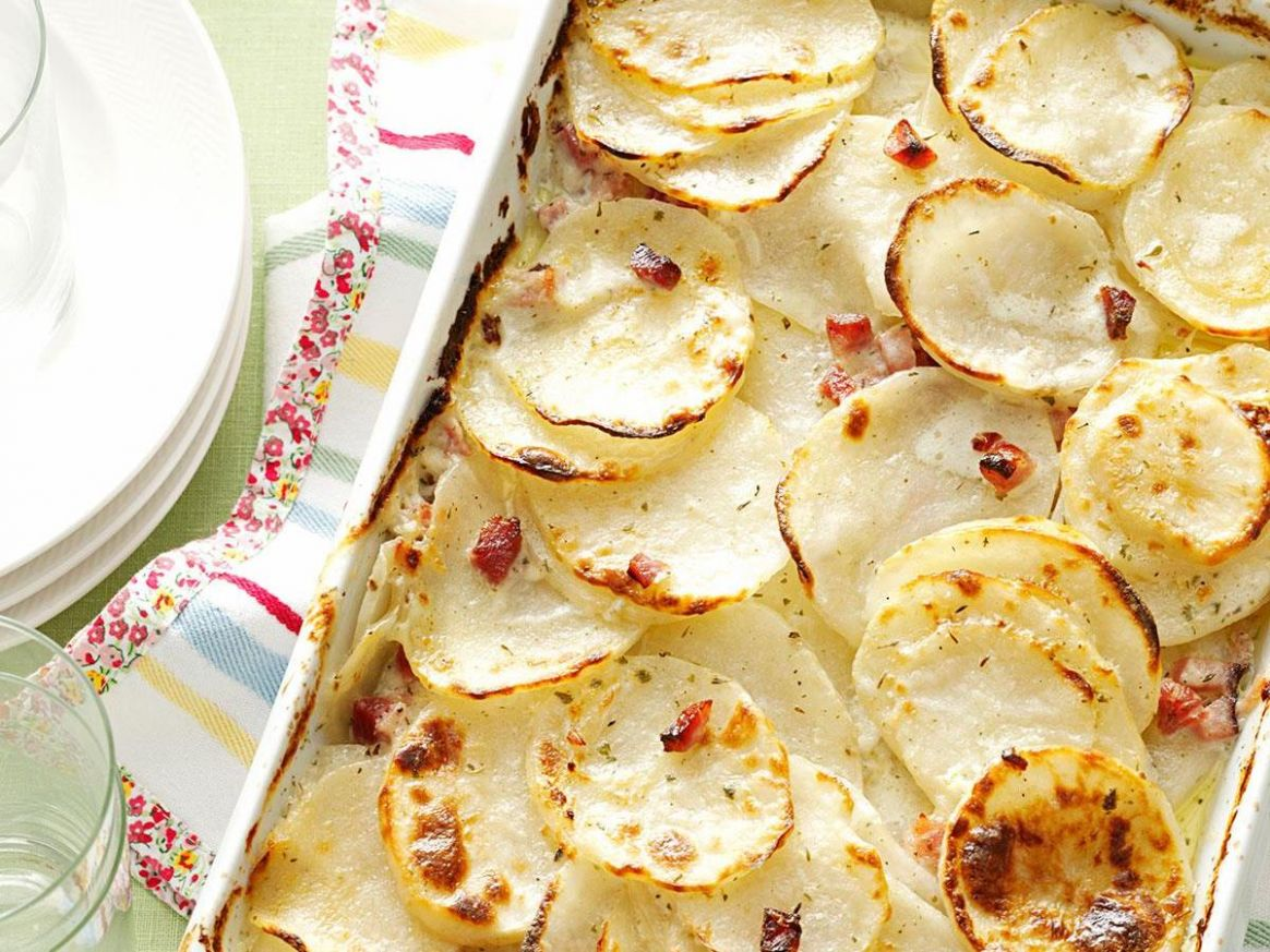 Scalloped Potatoes with Ham Recipe | Taste of Home