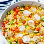 Scallops and Summer Vegetable Skillet - Easy Pan-Seared Scallop Recipe