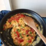 Scrambled Egg Wraps With Tomato And Spring Onions