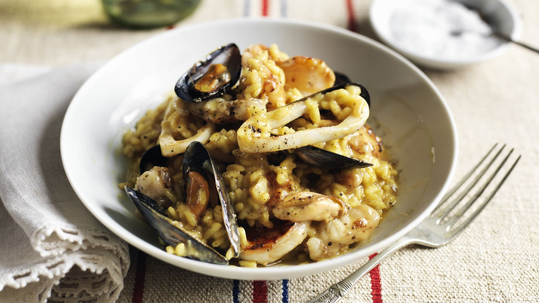 Seafood risotto - Recipe Fish Risotto