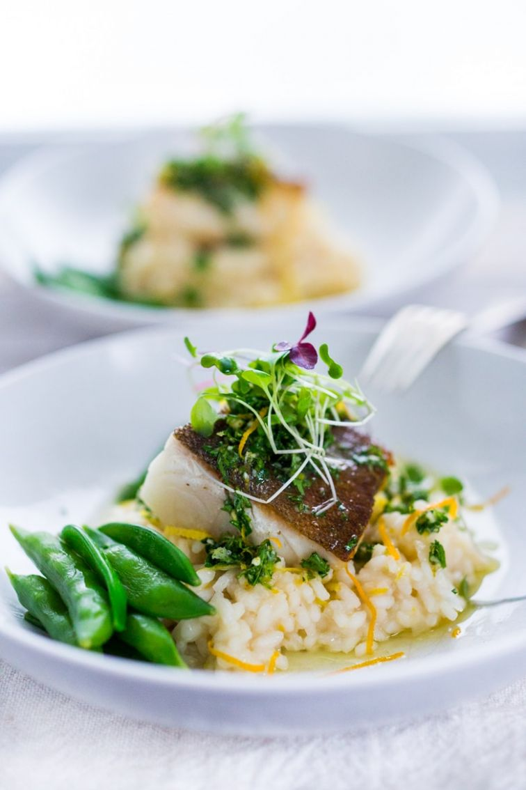 Seared Black Cod with Meyer Lemon Risotto and Gremolata | Feasting ..