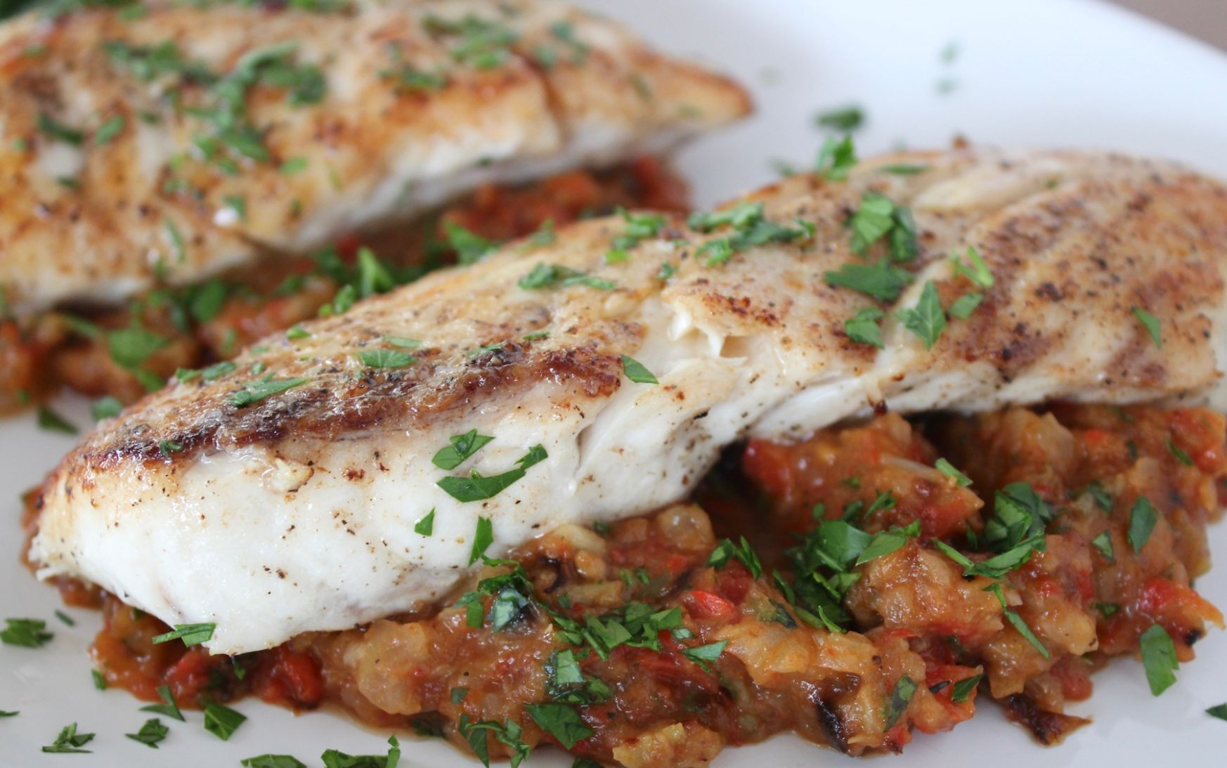 Seared Red Snapper with Roasted Veggies - Recipes Red Fish