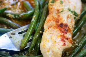 Sheet Pan Chicken & Green Beans   That Low Carb Life