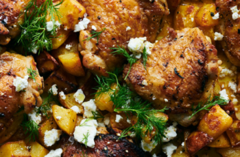 Sheet-Pan Chicken and Potatoes With Feta, Lemon and Dill | Recipe ...