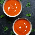 Sheet Pan Roasted Red Pepper Tomato Soup