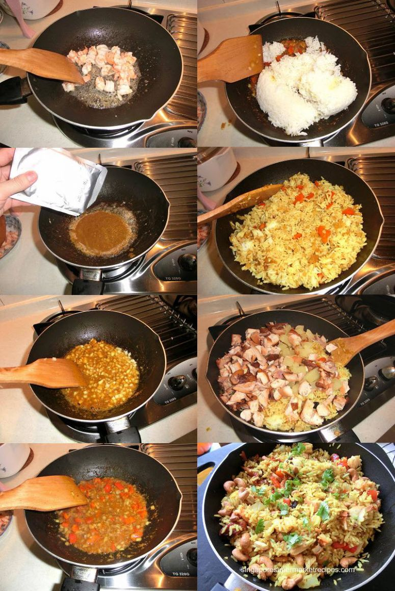 SIMPLE AND QUICK RECIPES – PINEAPPLE RICE WITH DANCING CHEF ...