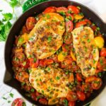 Simple Chicken And Tomatoes Skillet With Garlic And Capers – Recipes Chicken Breast Tomatoes