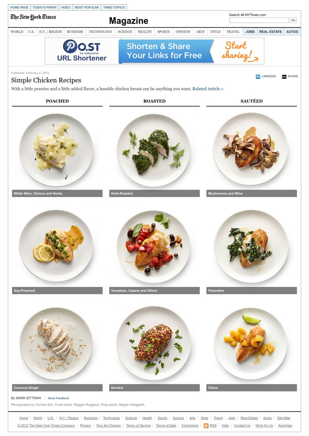 Simple Chicken Recipes - Interactive Feature - NYTimes