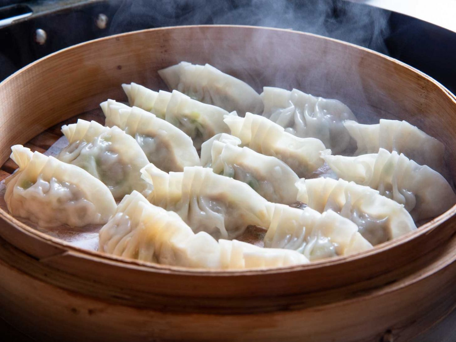Simple Pork and Scallion Dumplings Recipe - Recipe Pork Dumplings Steamed