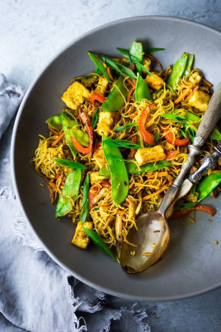 Singapore Noodles Recipe - Vegetable Recipes Chinese