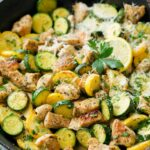 Skillet Lemon Parmesan Chicken With Zucchini – Cooking Classy – Recipes Chicken Breast Squash Zucchini