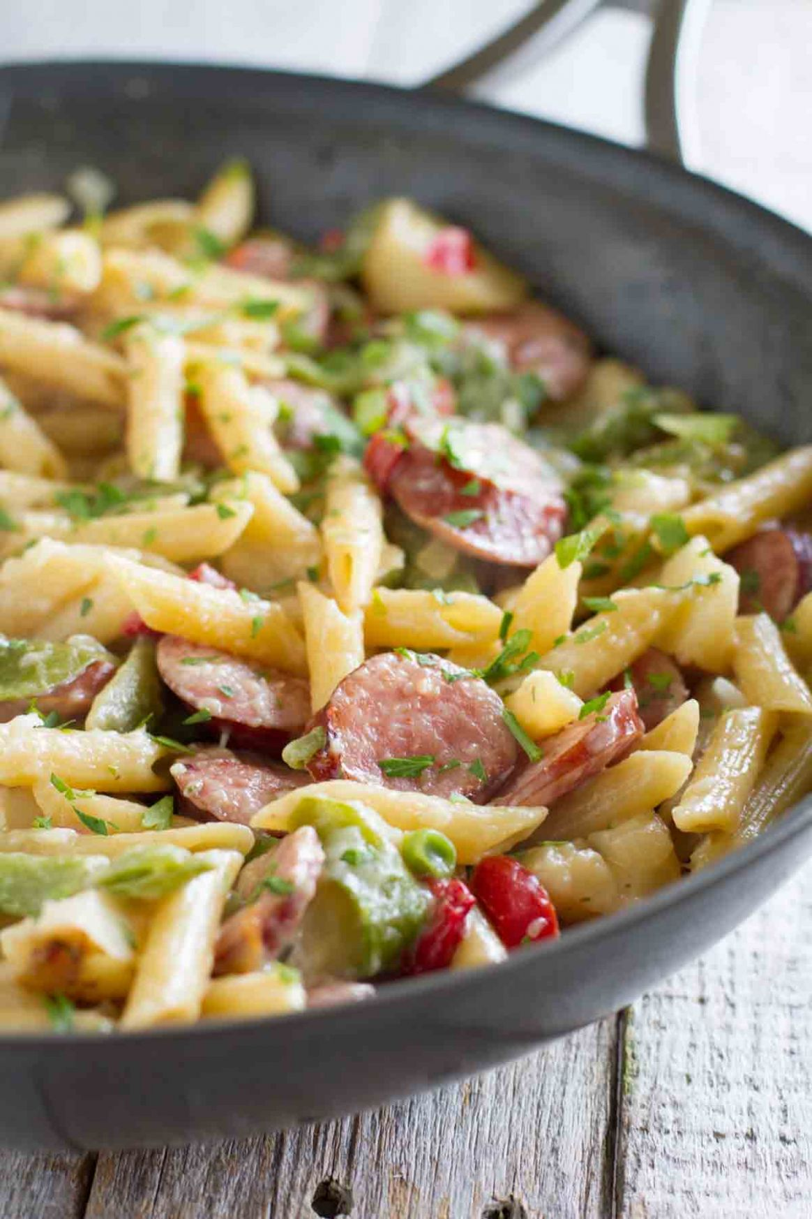 Skillet Pasta with Sausage - Recipes With Summer Sausage And Pasta