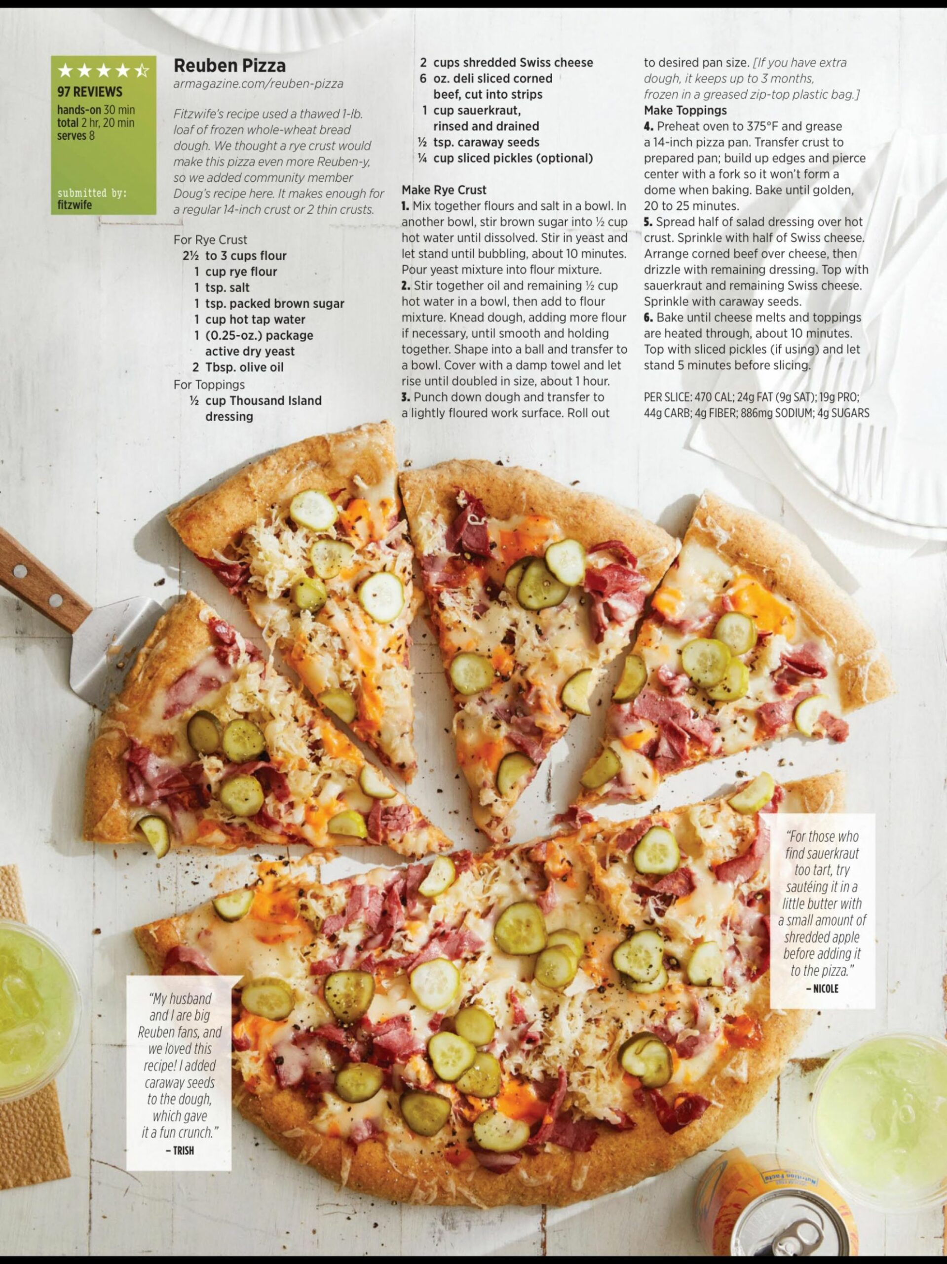"""Slices that score"""" from Allrecipes, February/March 10. Read it .."""