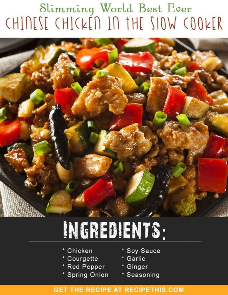 Slimming World Best Ever Chinese Chicken In The Slow Cooker - Healthy Recipes Slimming World