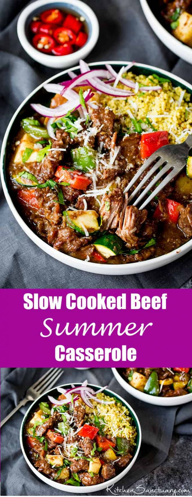 Slow Cooked SUMMER Beef Casserole - Summer Recipes Meat
