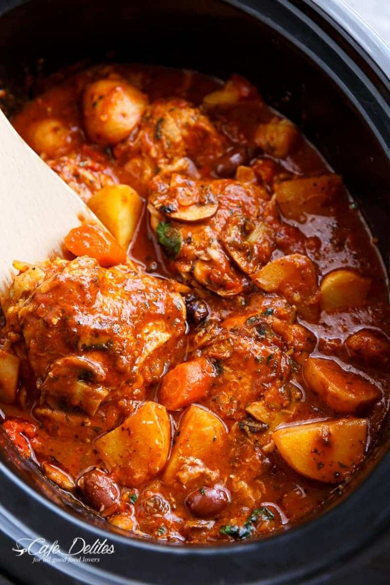 Slow Cooker Chicken Cacciatore With Potatoes - Simple Recipes Slow Cooker