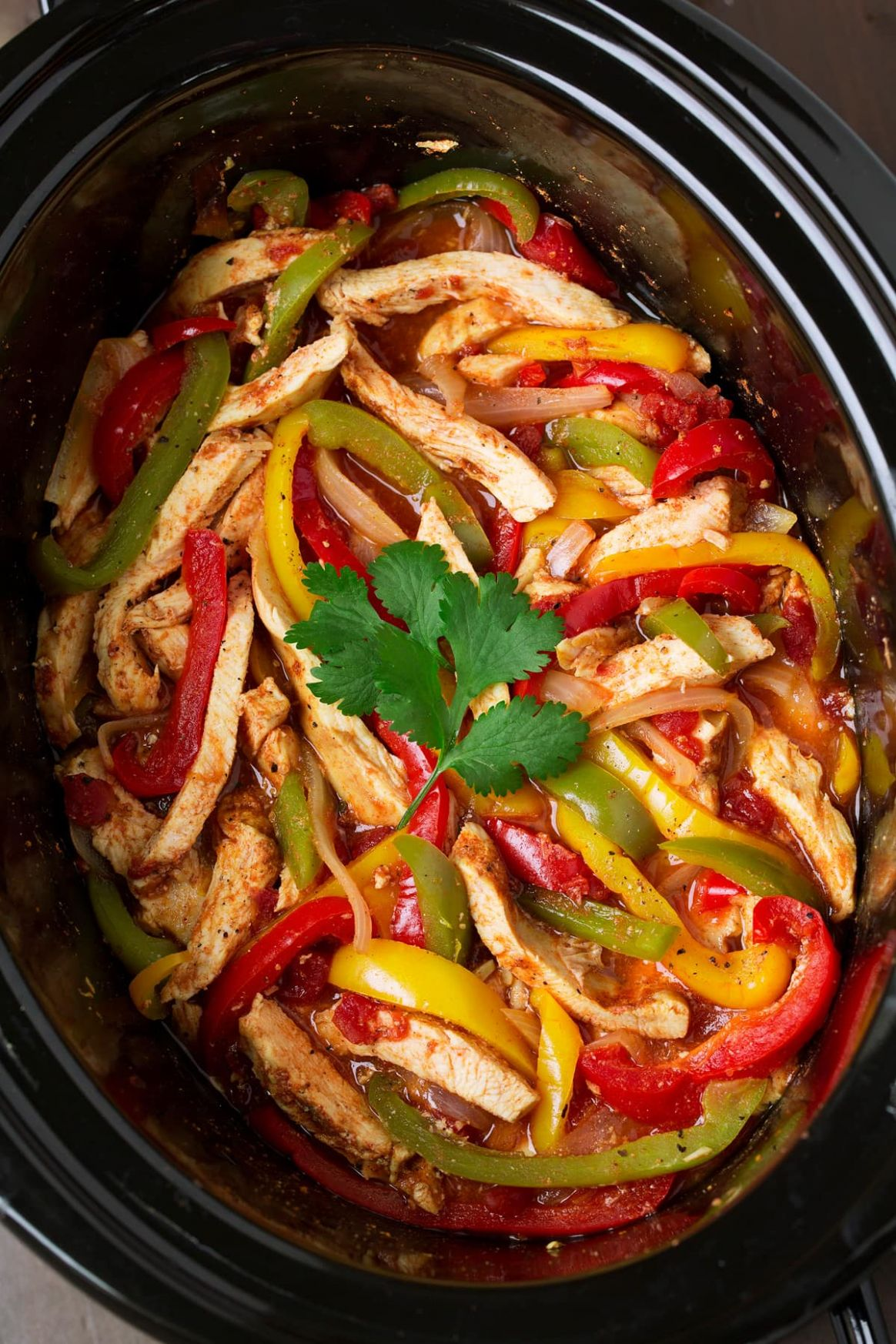 Slow Cooker Chicken Fajitas - Cooking Classy - Recipes Chicken Breast Bell Peppers Onions