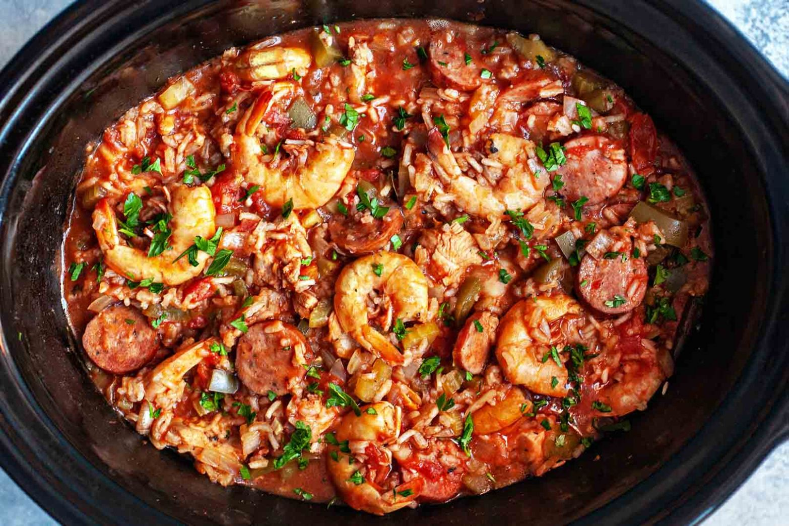 Slow Cooker Jambalaya - Easy Recipes Jambalaya