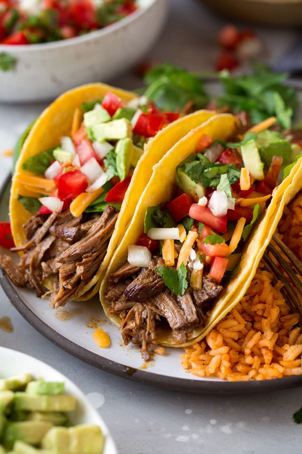Slow Cooker Shredded Beef Tacos - Cooking Classy