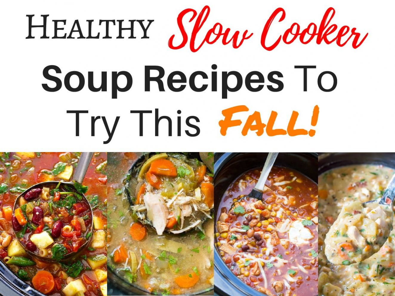 Slow Cooker Soup Recipes That are Easy and Healthy For Busy Days - Soup Recipes Pdf