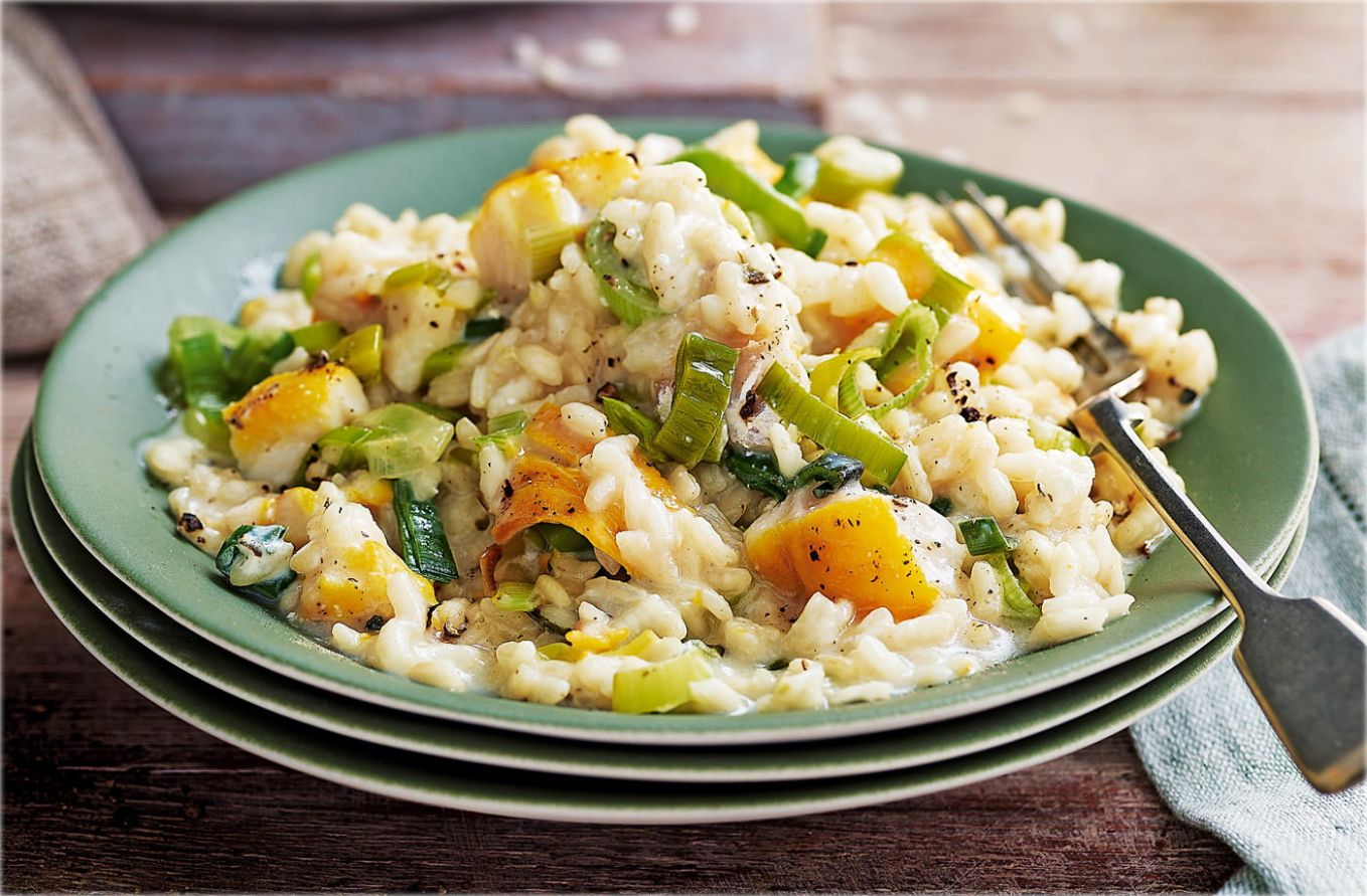 Smoked haddock and leek risotto - Recipe Fish Risotto