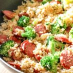 Smoked Sausage & Rice One Skillet Meal