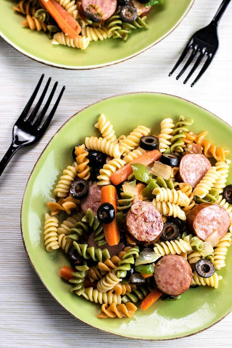 Smoked Sausage Pasta Salad - Recipes With Summer Sausage And Pasta