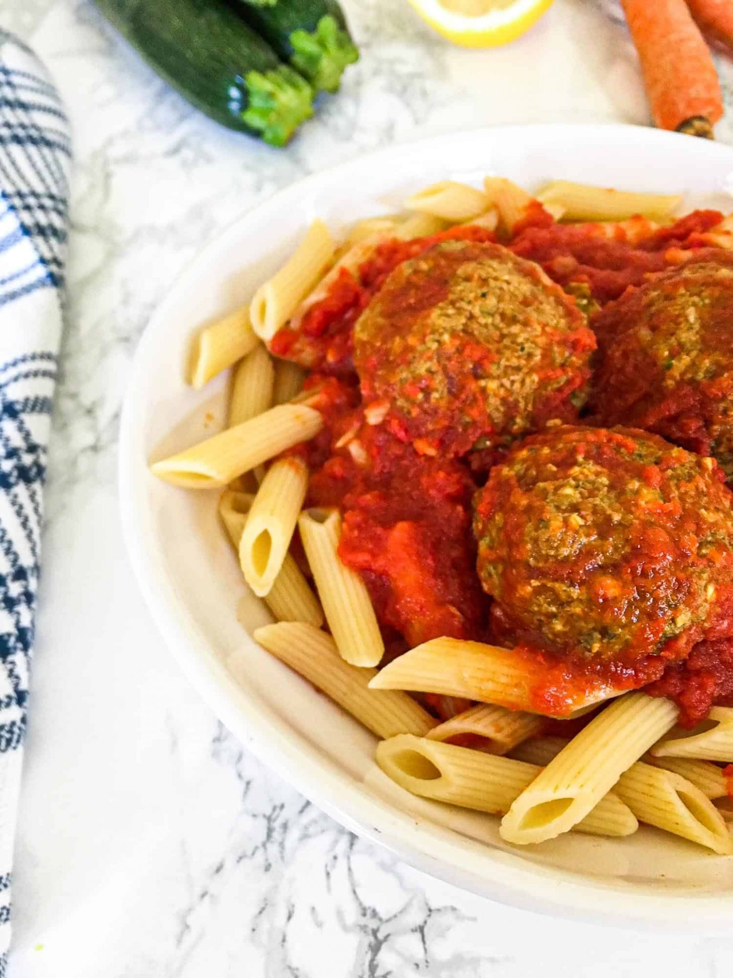 Sneaky Zucchini Meatballs [Vegan+GF+Oil Free] - This Healthy Kitchen - Vegan Recipes Zucchini Meatballs