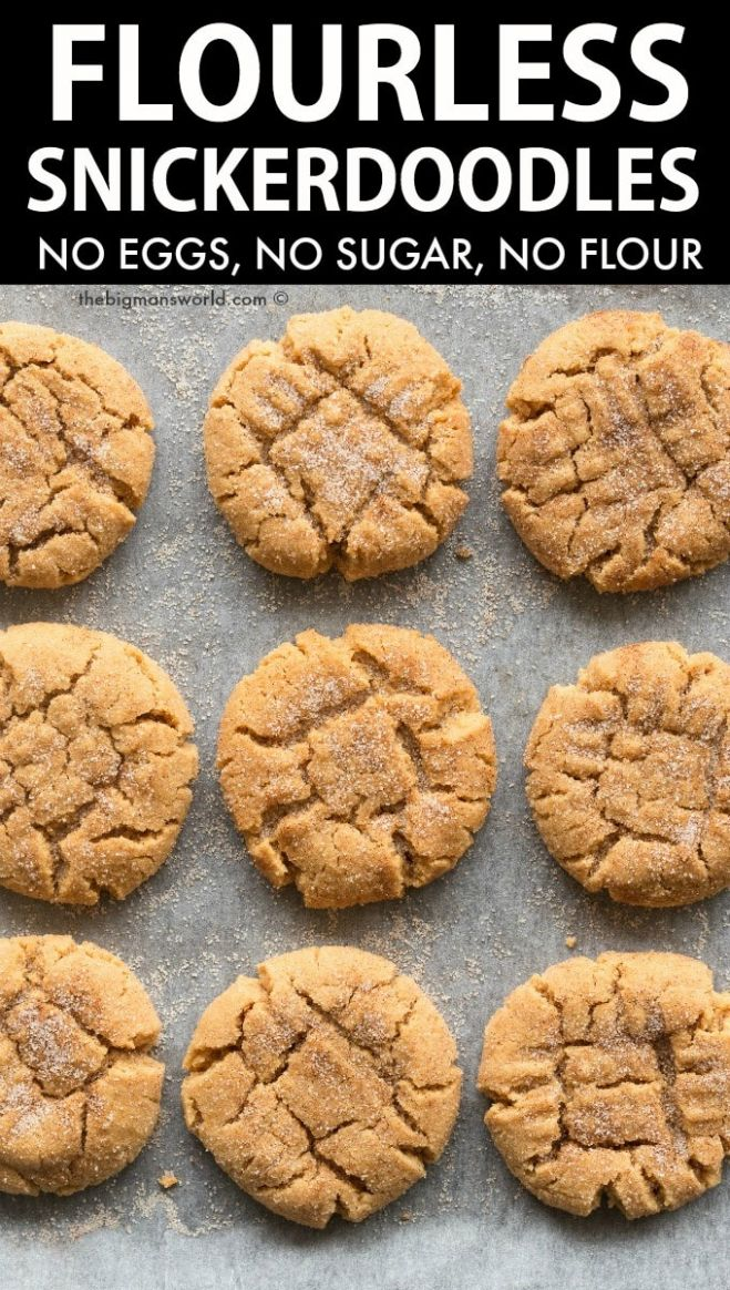 Snickerdoodle Cookies Keto, Paleo, Vegan - Dessert Recipes No Flour