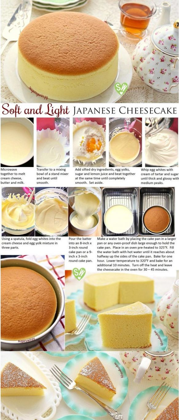 Soft and Light as Air Japanese Cheesecake - Dessert Recipes Japanese
