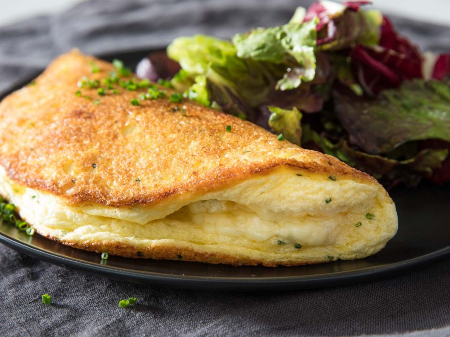 Soufflé Omelette With Cheese Recipe - Egg Omelette Recipe
