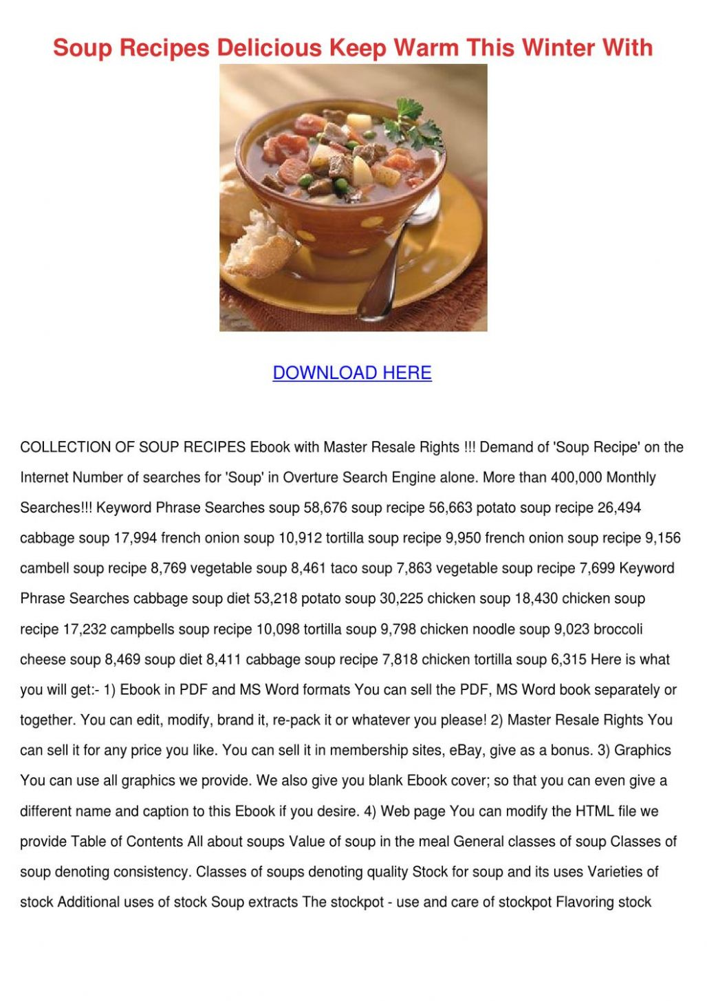 Soup Recipes Delicious Keep Warm This Winter by AustinWillis - issuu - Soup Recipes Pdf