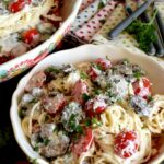 Spaghetti In Cream Cheese Sauce With Mushrooms And Tomatoes – Lord ..