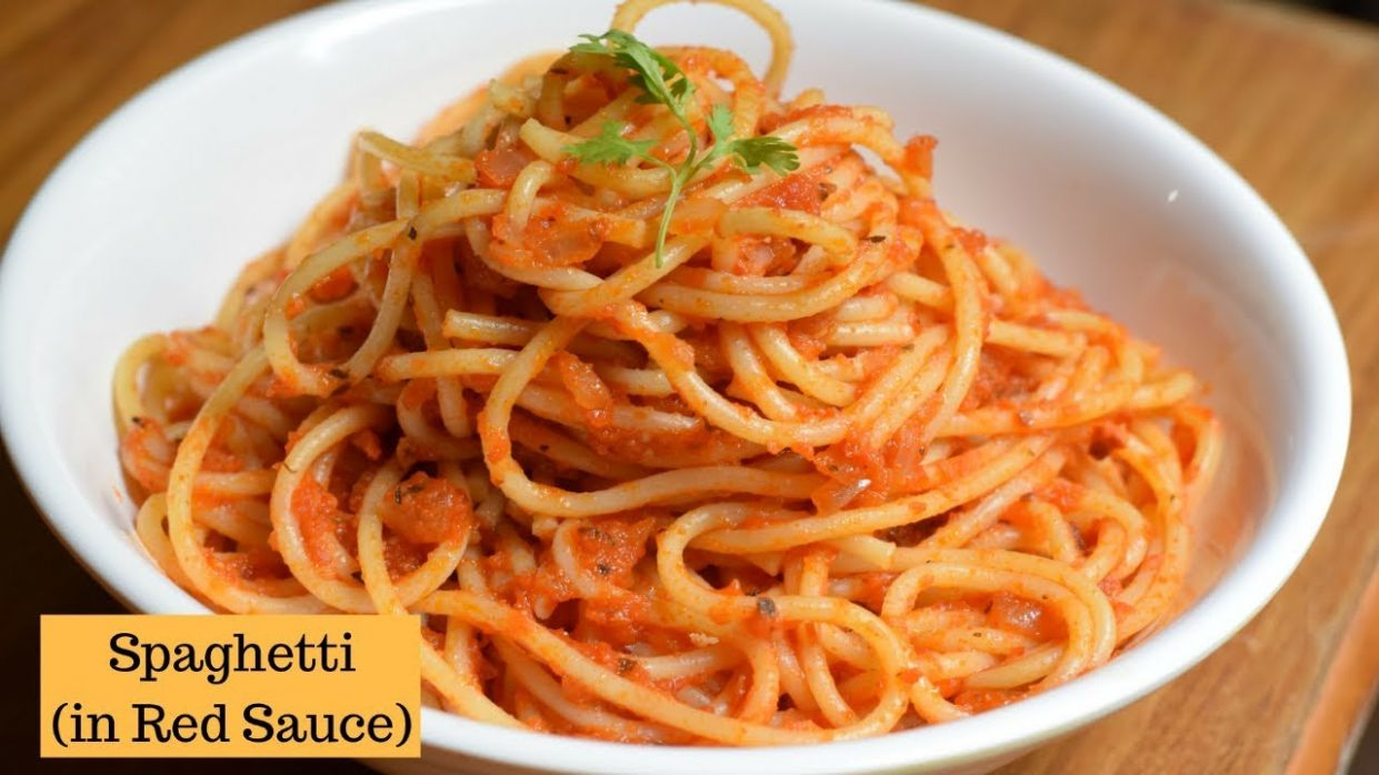 Spaghetti in Tomato sauce | Spaghetti Recipe | Red Sauce spaghetti Pasta - Pasta Recipes Red Sauce