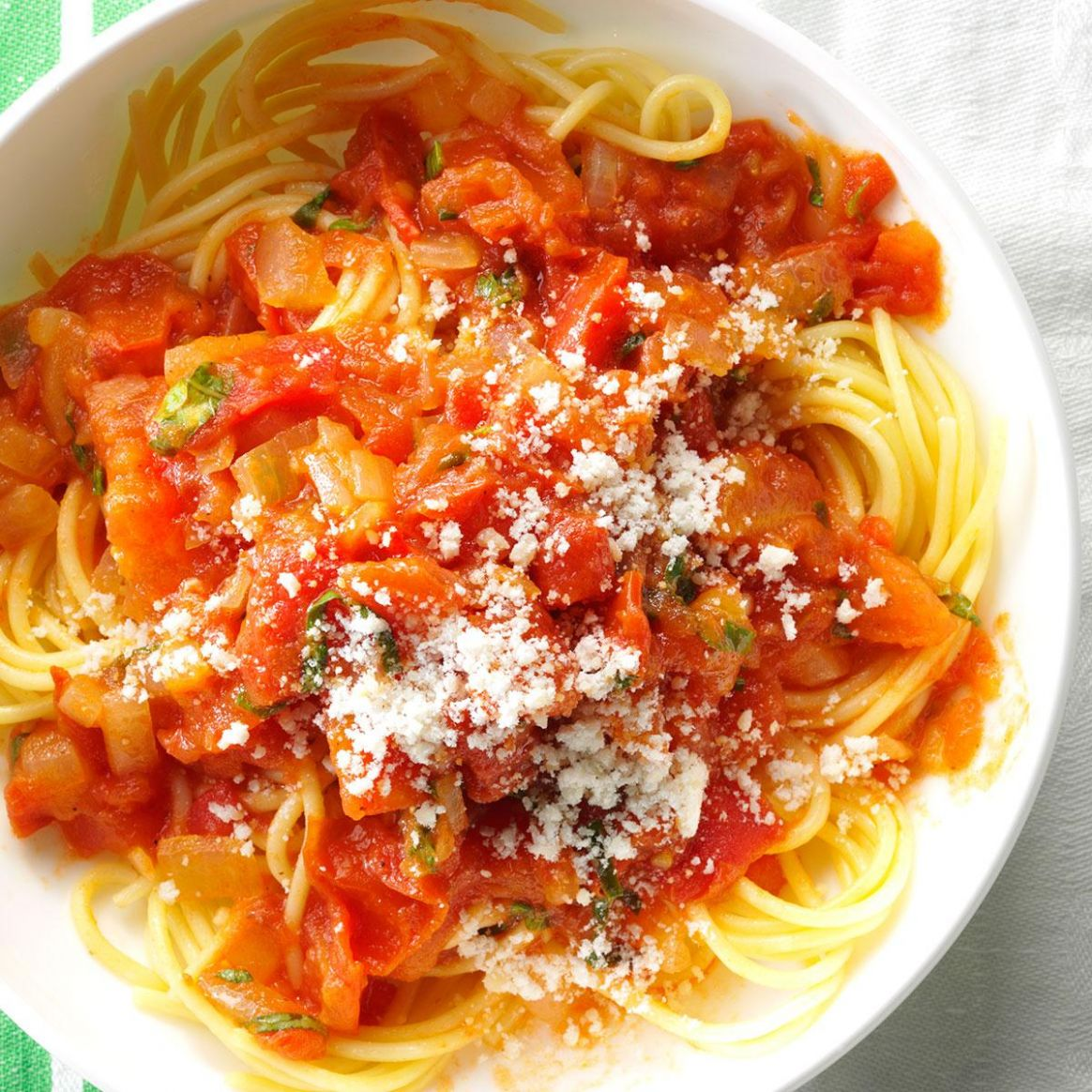 Spaghetti with Fresh Tomato Sauce - Pasta Recipes In Red Sauce