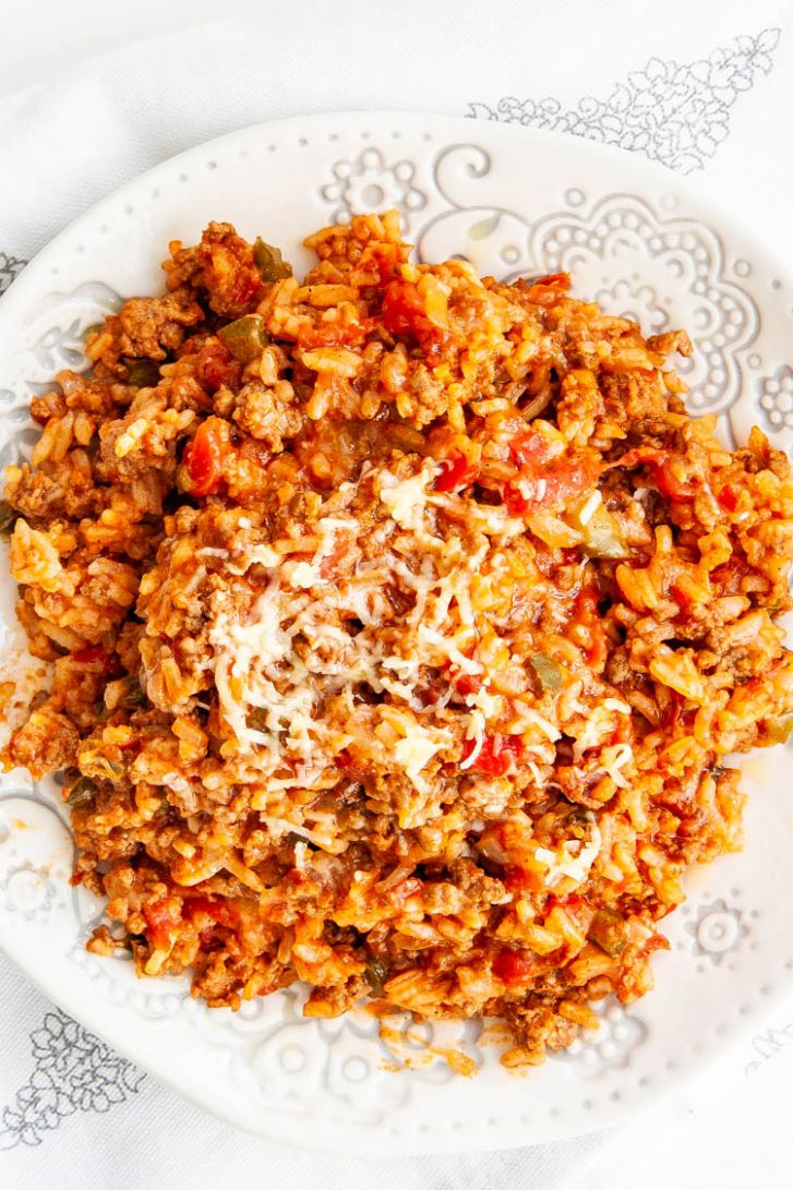 Spanish Rice with Ground Beef - Recipes With Yellow Rice And Ground Beef