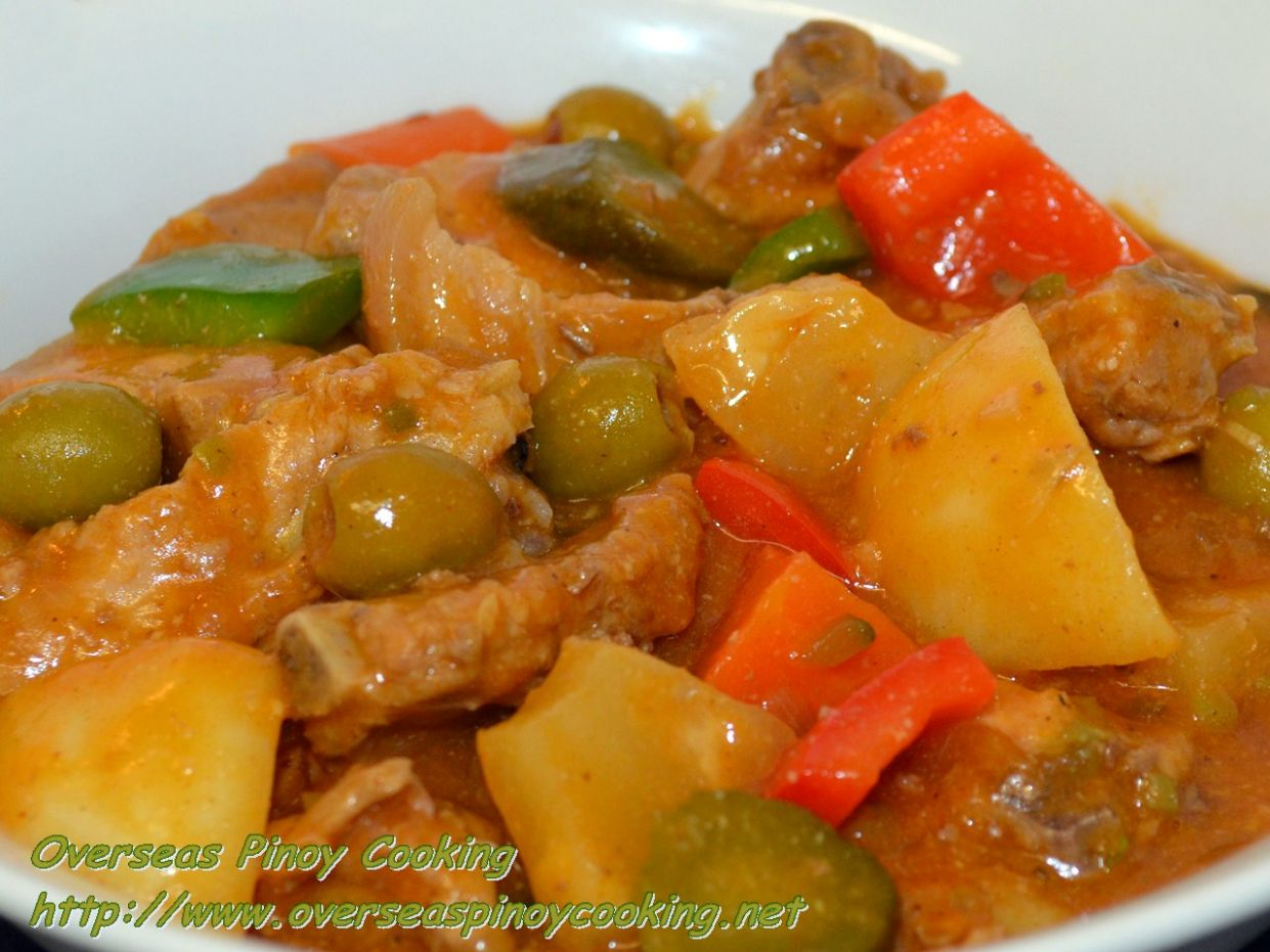 Special Pork Kaldereta ~ Overseas Pinoy Cooking - Recipe Pork Kaldereta